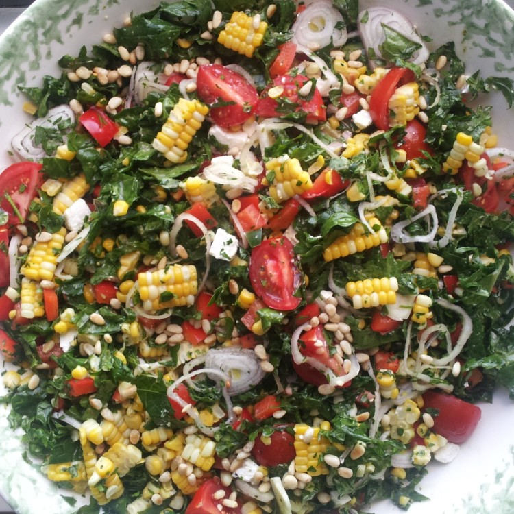 kale and corn salad