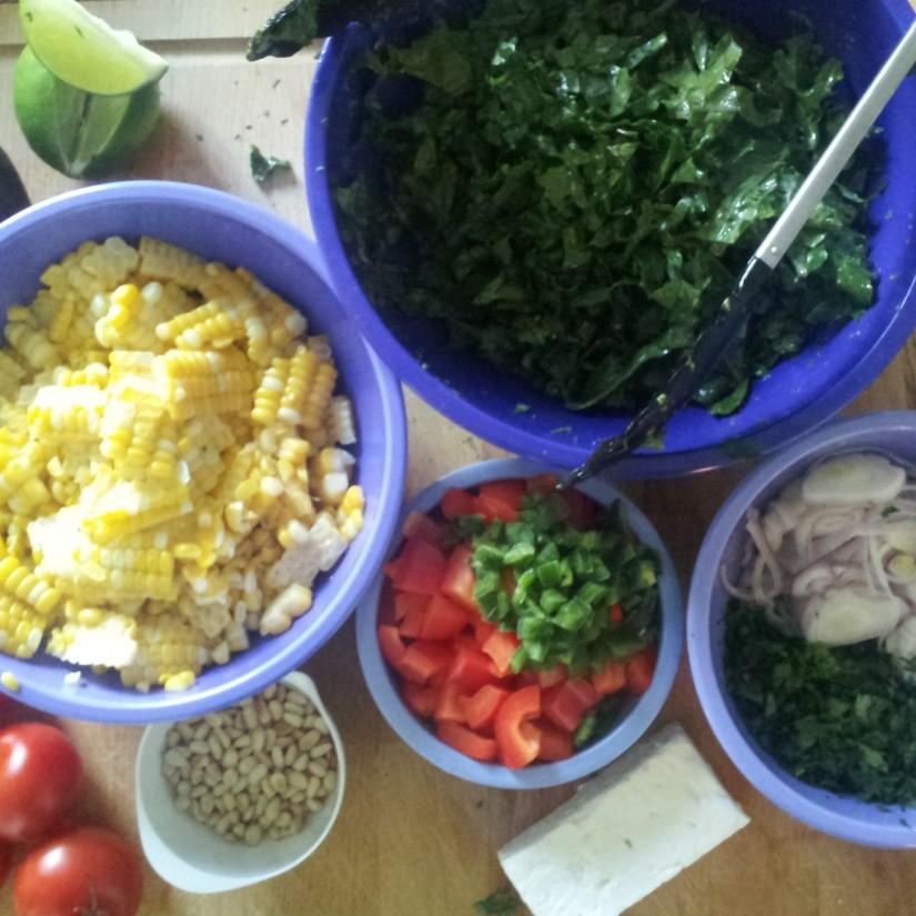 carn salad prep
