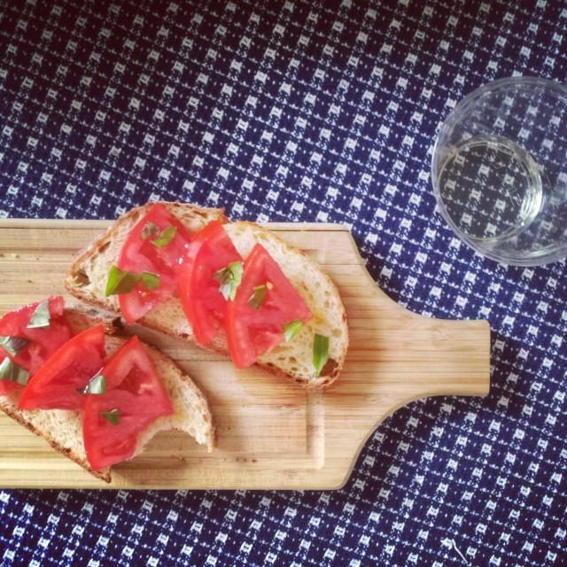 Bread, Tomato, and Basil