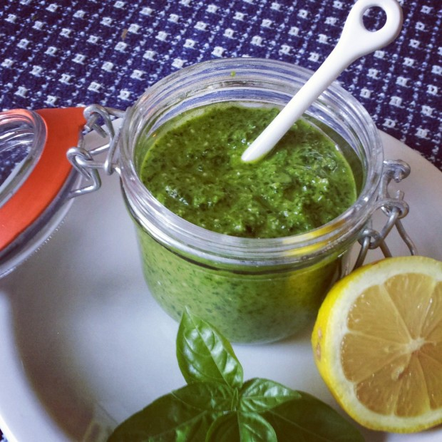 Spinach Basil Lemon Pesto