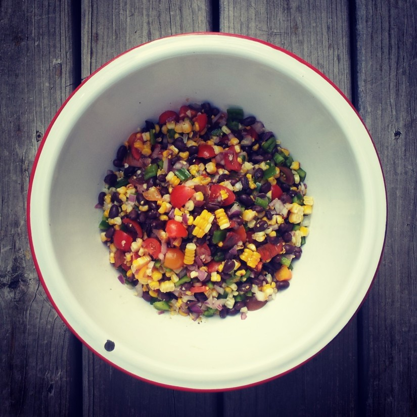 Charred Corn and Pepper Salad with Feta
