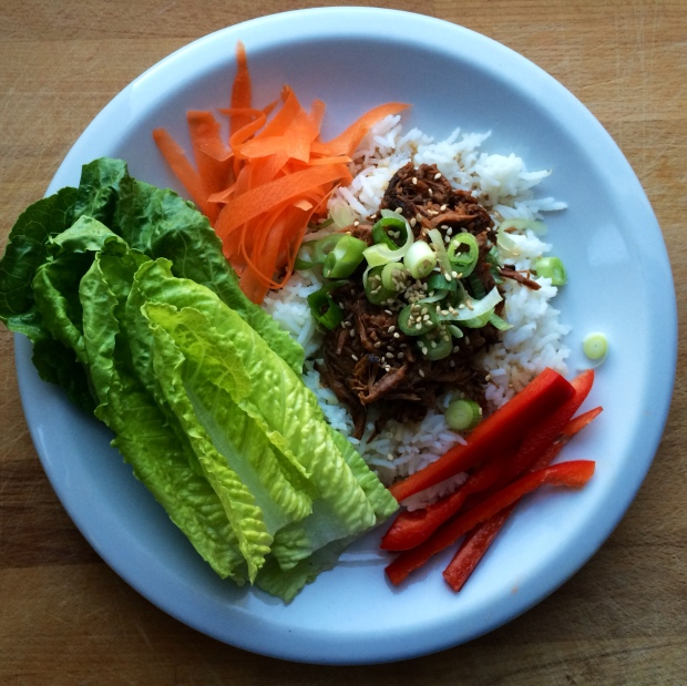Crock Pot Korean Beef Lettuce Wraps