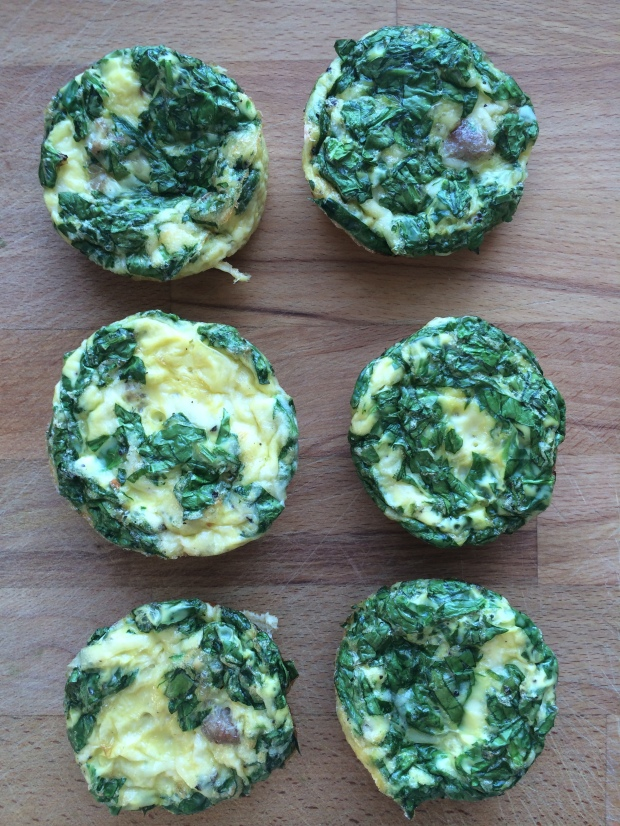 Mini Frittatas with Spinach, Sausage, and Gruyere