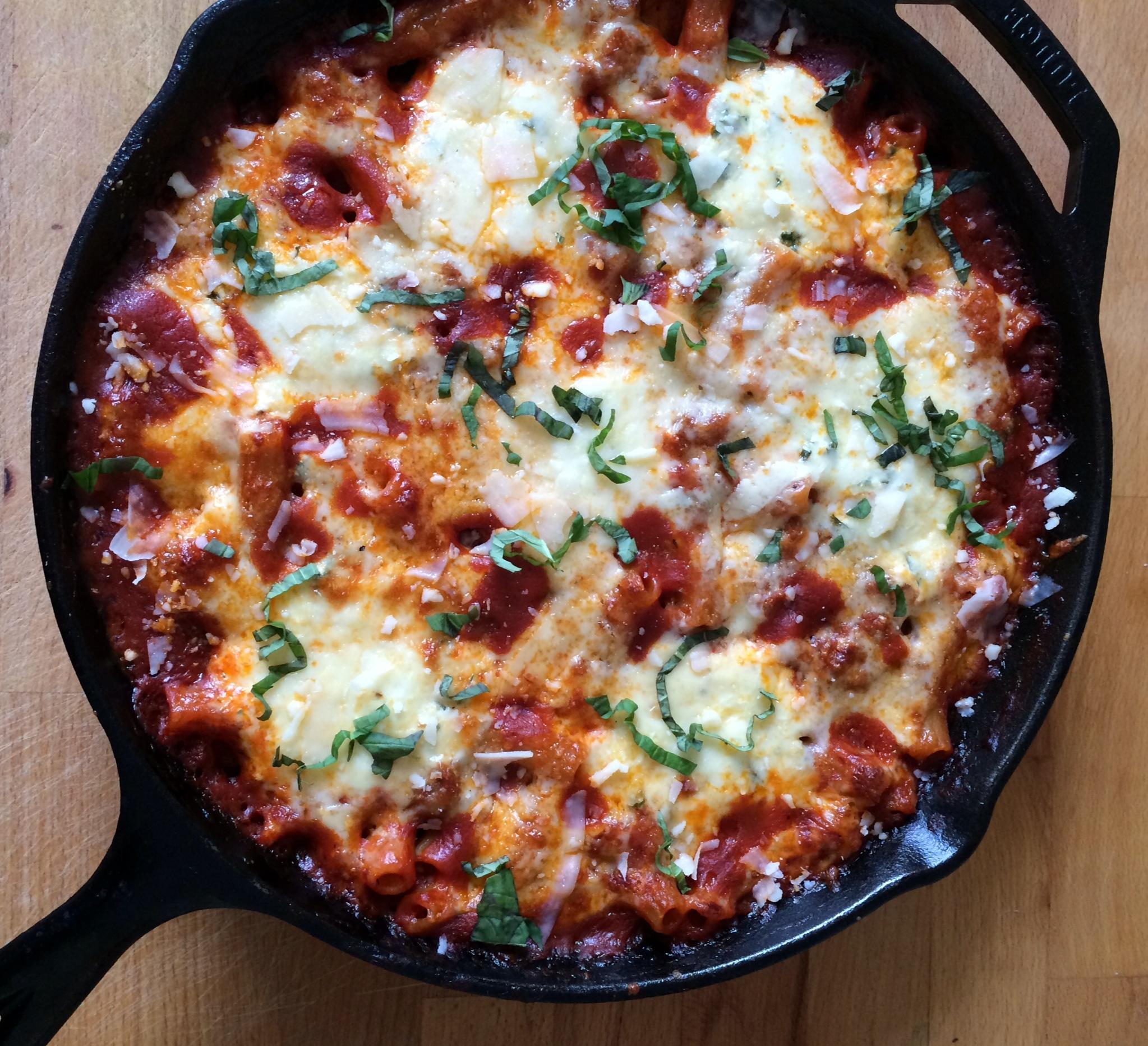 One Skillet Baked Ziti – Emily Always Cooks