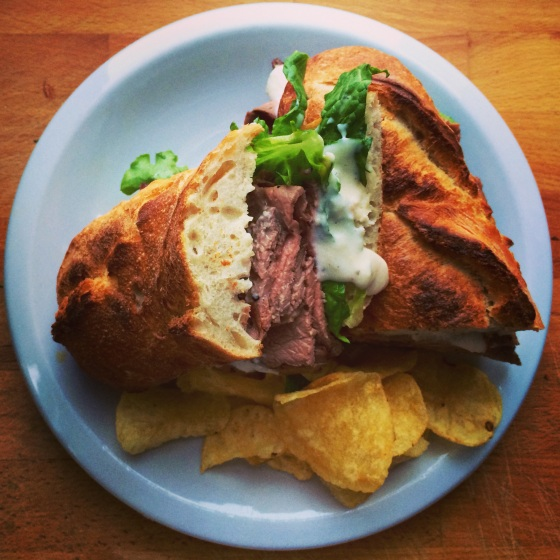 Rosemary and Garlic Roast Beef Sandwich with Horseradish Cream Sauce ...