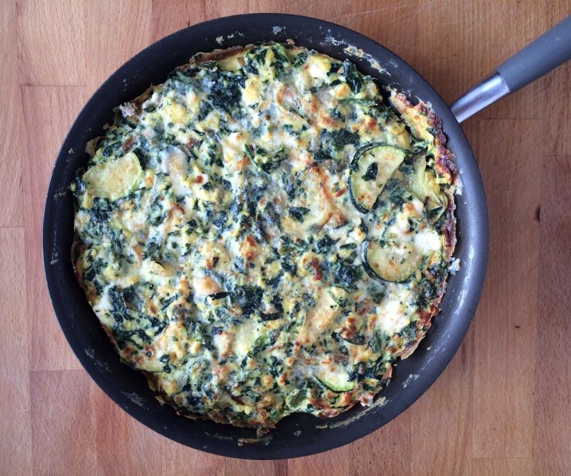 Spinach Zucchini and Feta Frittata