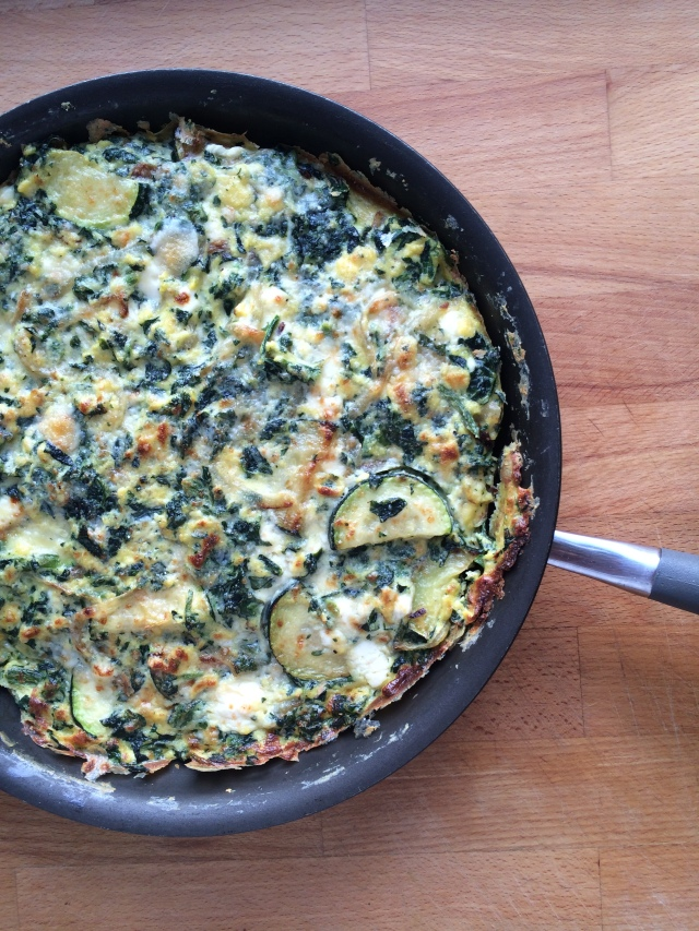 Spinach Zucchini and Feta Frittata