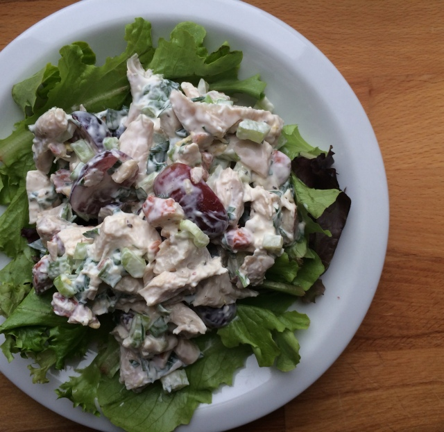 Chicken Salad with Grapes, Almonds, and Tarragon Dressing