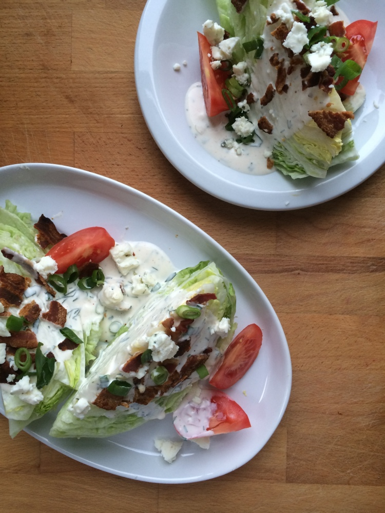 Wedge Salad with Buttermilk Herb Ranch Dressing
