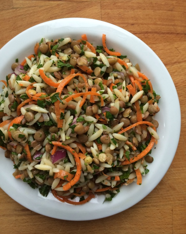 Lentil and Orzo Salad