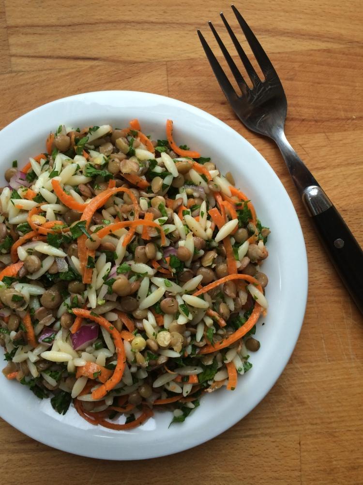 Lentil Orzo Salad