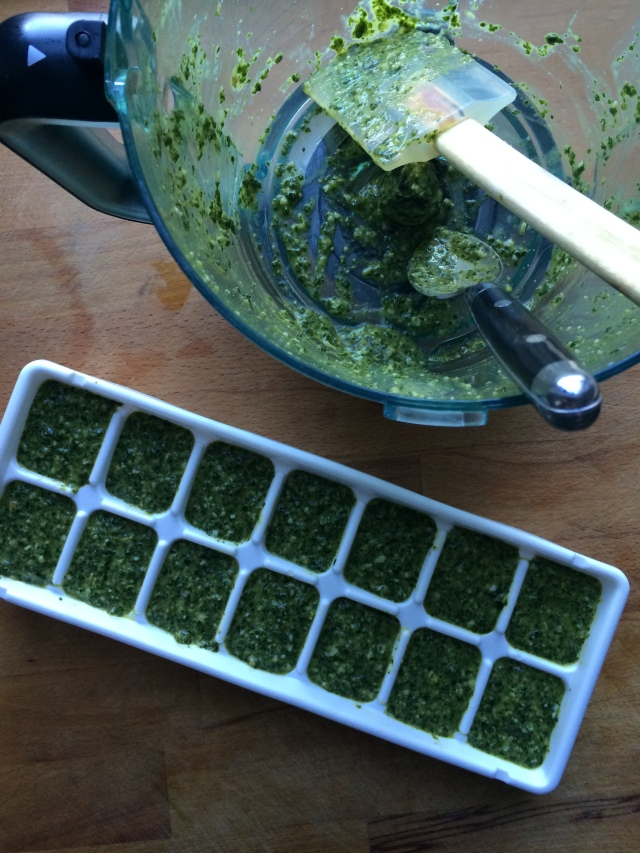 How to freeze basil pesto