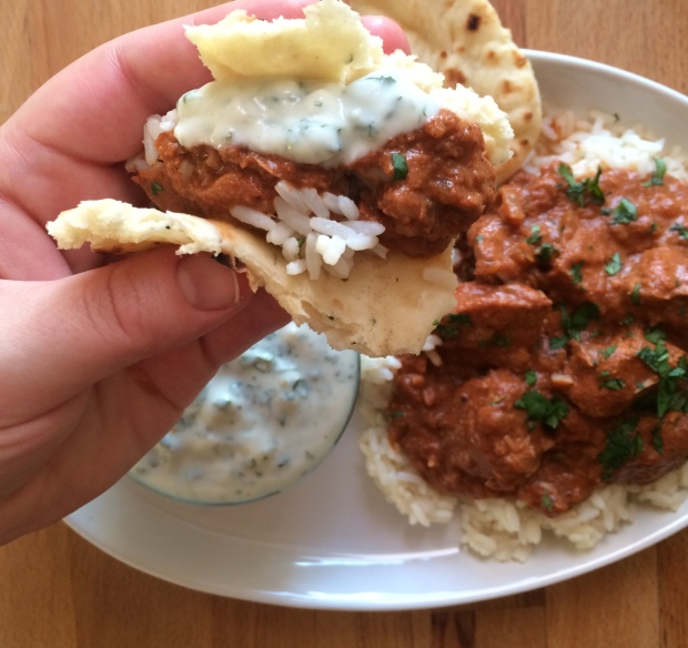 Crock Pot Chicken Tikka Masala and Cilantro Yogurt Sauce