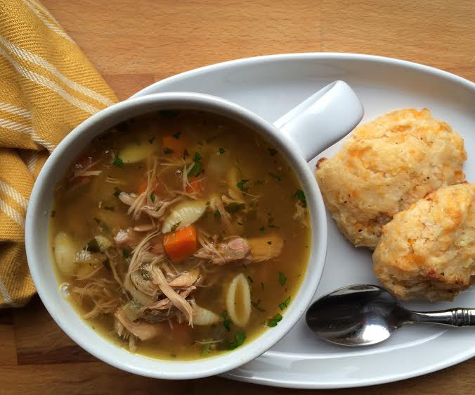 Leftover Turkey Noodle Soup with Homemade Turkey Stock | Emily Always ...