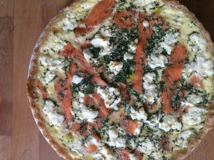 Smoked Salmon, Dill, and Goat Cheese Quiche