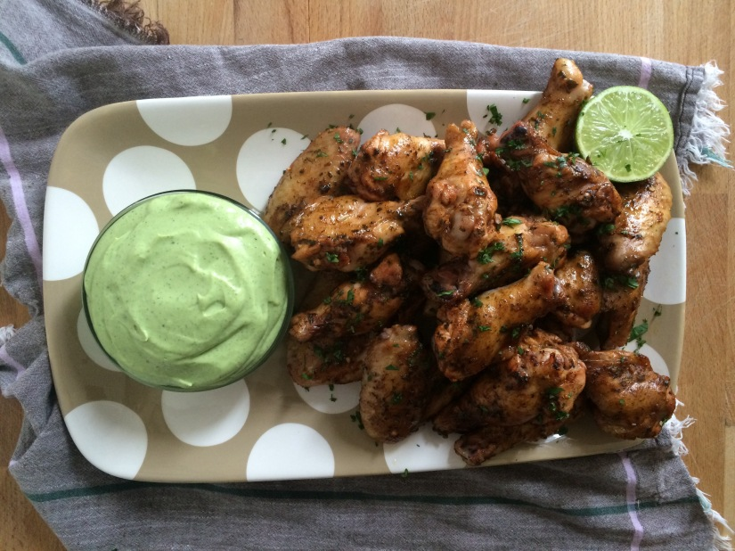 "Tequila Lime ""Margarita"" Chicken Wings and Southwestern Ranch Dipping Sauce"