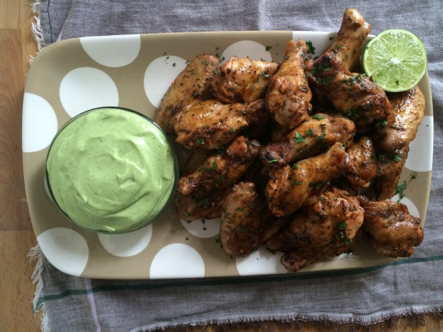 """Tequila Lime """"Margarita"""" Chicken Wings and Southwestern Ranch Dipping Sauce"""