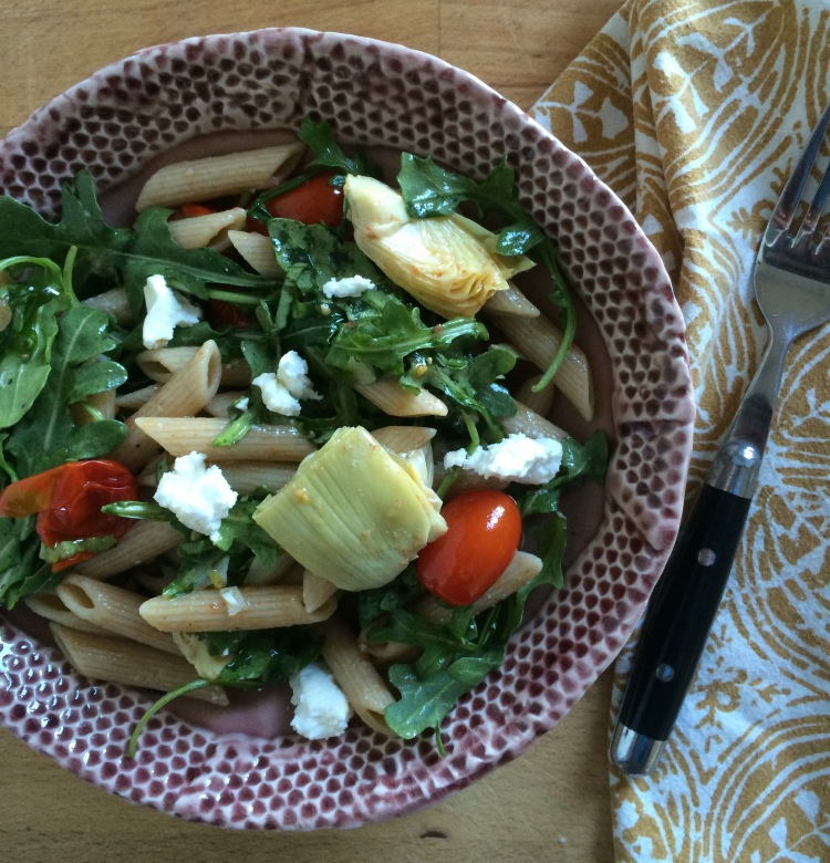 Roasted Tomato and Arugula Pasta Salad