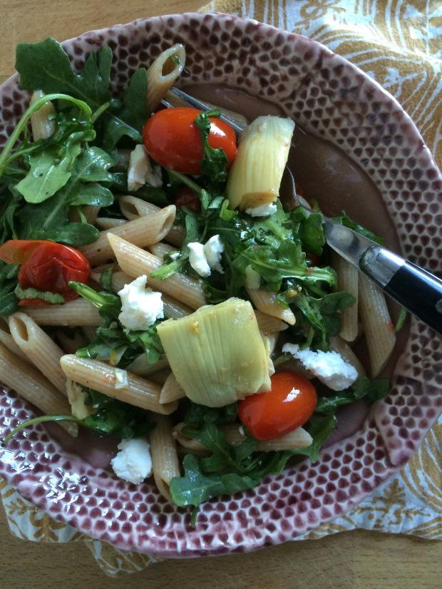 Roasted Tomato and Arugula Pasta Salad