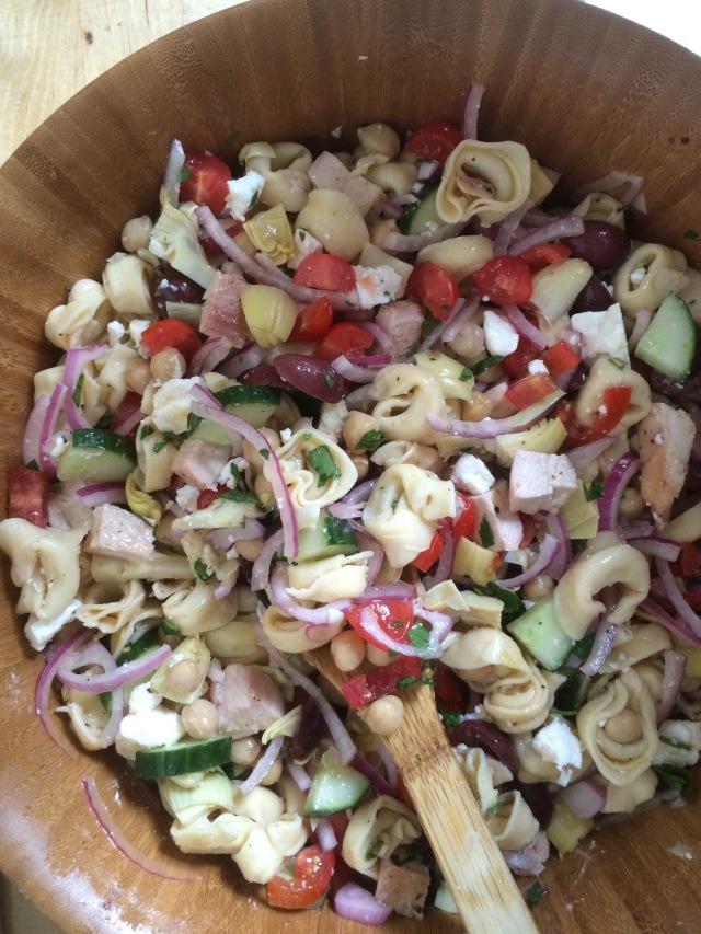 Greek Tortellini Pasta Salad2