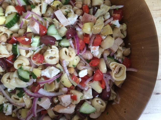 Greek Tortellini Pasta Salad4
