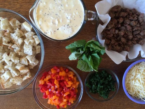 Sausage and Veggie Breakfast Strata