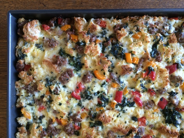Sausage and Veggie Breakfast Strata
