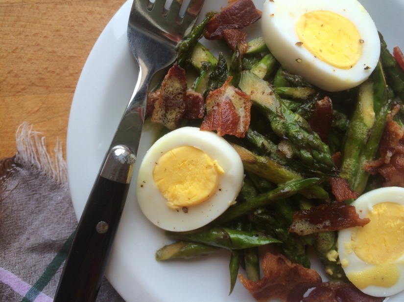 Asparagus, Egg and Bacon Salad with Dijon Vinaigrette4