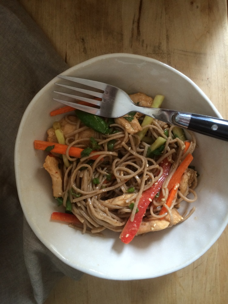 Sesame-Ginger Soba Noodle Salad with Chicken
