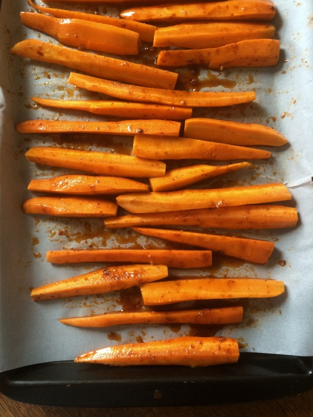 maple and harissa carrots 3