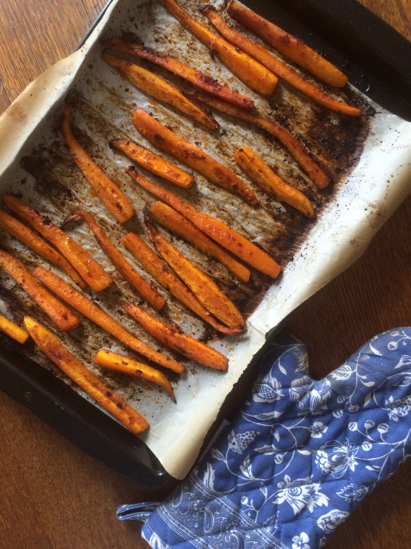 maple and harissa carrots 6