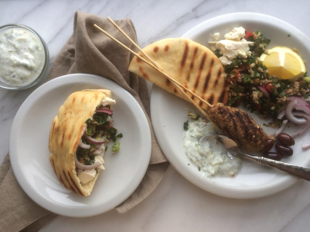 Lebanese Lamb Kafta Kebabs and Tabbouleh Salad1 (2)