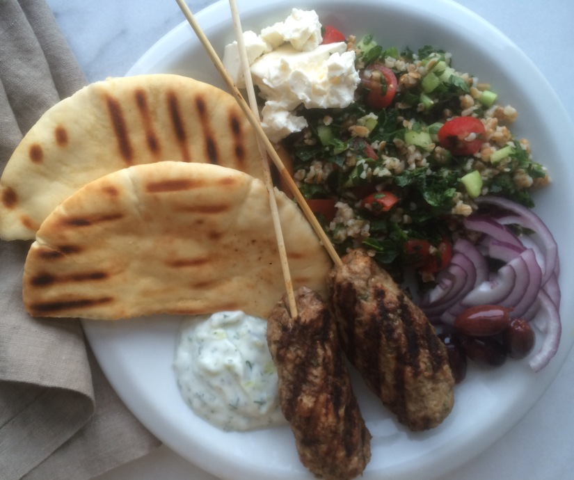 Lebanese Lamb Kafta Kebabs and Tabbouleh Salad2