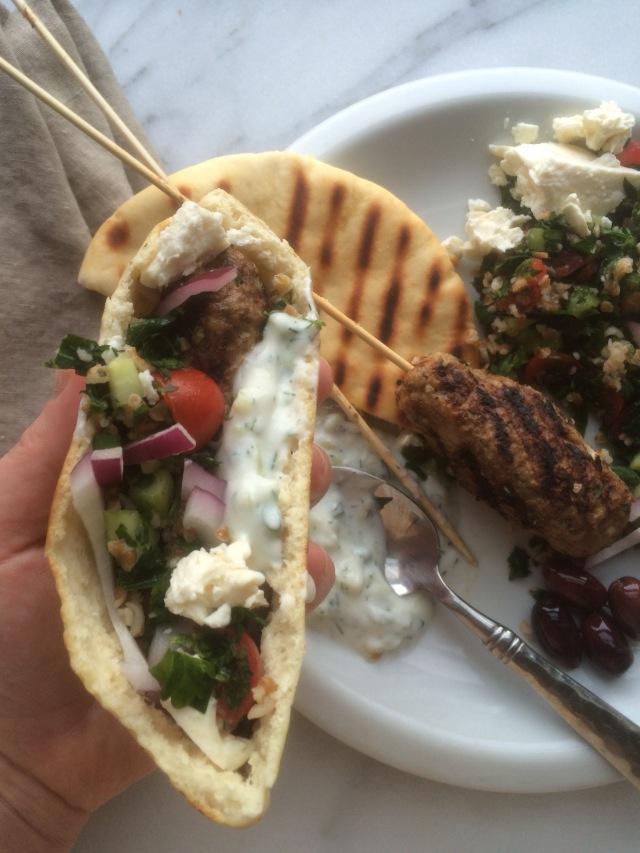 Lebanese Lamb Kafta Kebabs and Tabbouleh Salad3